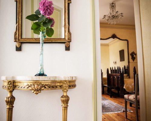 Entrée de la chambre d'hôtes à la villa Saint-Georges Arcachon
